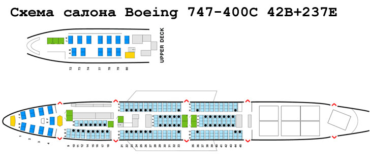 boeing 747-400 mixed config