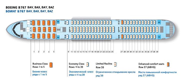 BAZ схема салона самолета
